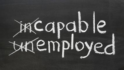 capable, employed