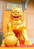 Fototapety The golden lion statues. ( Public property. )