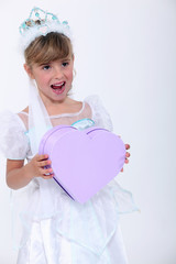 Girl dressed as a princess