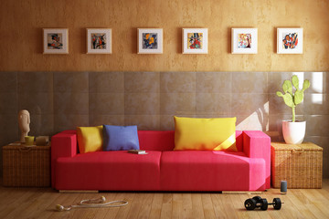modern livingroom 3d salotto