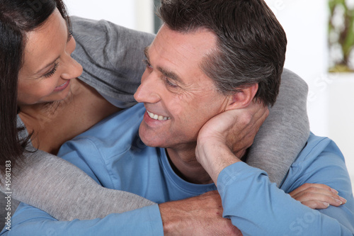 Couple in a loving embrace