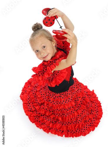 the girl in a red Spanish dress (series)