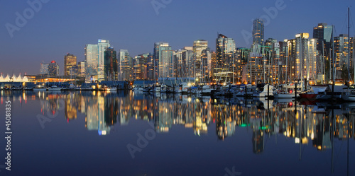 Foto op Canvas Canada Vancouver downtown night, Canada BC