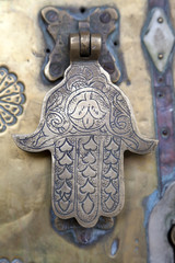 Metal doorknocker Hand of Faitima