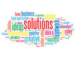 """SOLUTIONS"" Tag Cloud (business ideas projects innovation smart)"