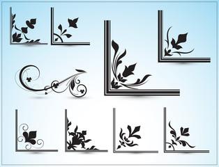 Corner Designs Vectors