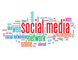 """SOCIAL MEDIA"" Tag Cloud ( information society like networking)"