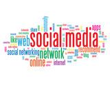 """SOCIAL MEDIA"" Tag Cloud ( information society like networking)"