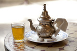 Drinking traditional tea in Marrakesh Morocco