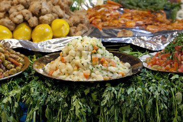 Food at the Jamaa el Fna market