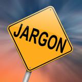 Fototapety Jargon concept.