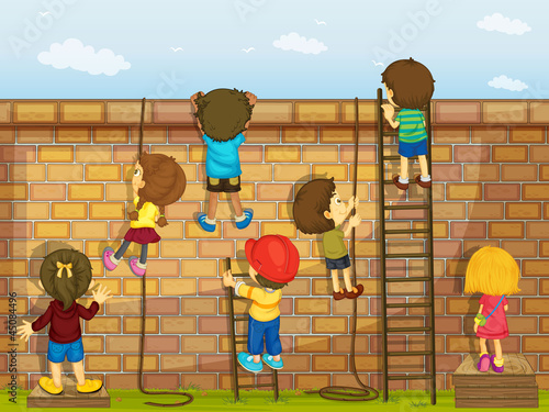 Wall and Kids