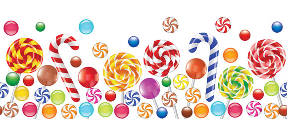 colorful candies, fruit bonbon, lollipop