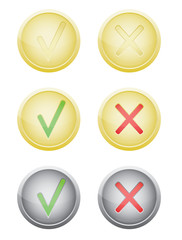 set of vote push buttons vector illustration