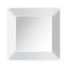 Blank white computer key