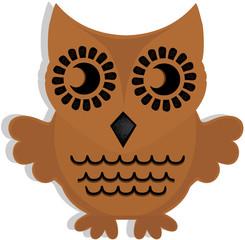 wooden owl vector