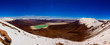 Panorama at an altitude of 5500 meters in the Andes mountains