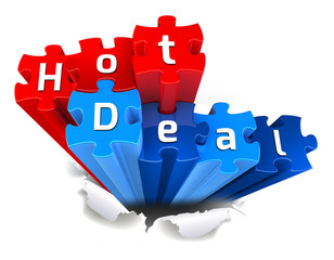 exclusive HOT DEAL puzzle and torn paper