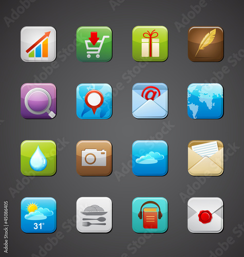 collection of apps icons