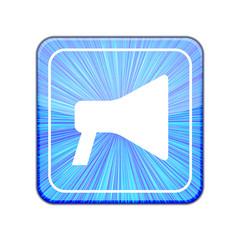 Vector version.  loudspeaker icon. Eps 10 illustration