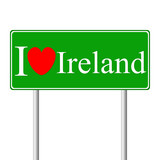 I love Ireland, concept road sign