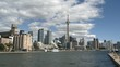 Toronto Skyline at daytime with clouds passing by