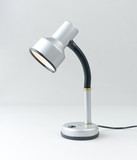 Chrome flexible and adjustable neck reading book lamp