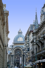 The CEC Palace in Bucharest seen from the Stavropoleos street