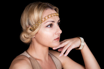 Girl in the Greek style  With the bracelet