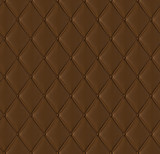 Brown quilted leather tiled texture