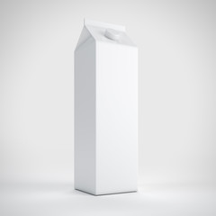 Big milk white carton package