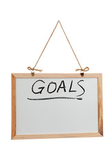 Goals word on white board