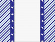 Blue and White celebration frame with stars for your message or
