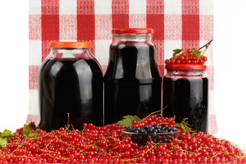 Harvest of berries and home preserves.