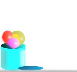 bidone di palloncini