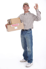 removal man holding boxes