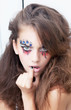 Fashion style creative photo of a young fashion lady - mime