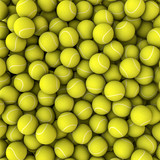 Tennis balls background