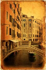 Venice, view of a canal