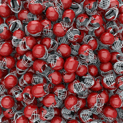 American football helmets background