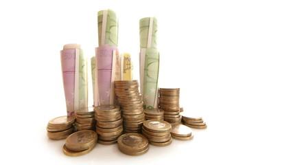 HD - Euro Money stock. wide angle view