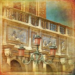 Venezia, dettaglio del campanile di Piazza San Marco