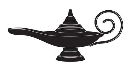 Aladdin's lamp silhouette