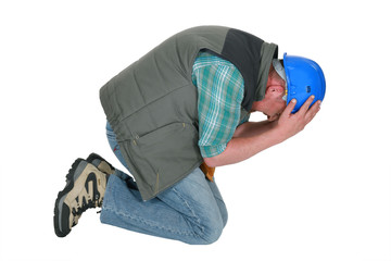 Tradesman overwhelmed with grief