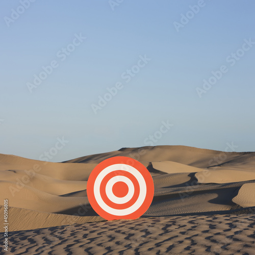 """USA, Utah, Little Sahara, target on desert"""