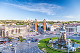 Fototapety view of the center of Barcelona. Spain