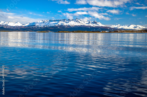 The Beagle Channel and Mountains