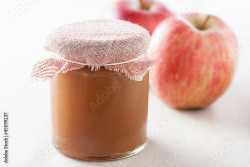 pot of homemade apple jam