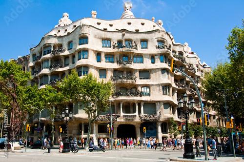Leinwandbild Motiv La Pedrera by the Catalan architect Antoni Gaudi. Barcelona.