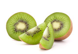 Fototapety Kiwi fruit sliced segments